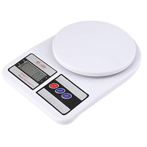 Generic Electronic Kitchen Digital Weighing Scale, Multipurpose (White, 10 Kg)