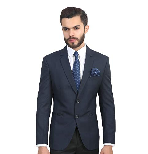 ManQ Men's Slim Fit Formal Blazer