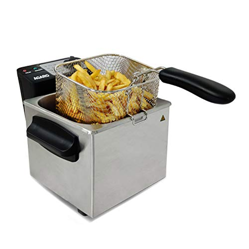 AGARO - 33390 Marvel 1700-Watt Deep Fryer with 2-Litre Capacity and 3 Temperature Settings (Silver)