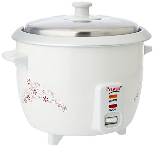 Prestige Delight PRWO 1-Litre Electric Rice Cooker (White)