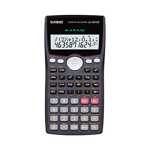 Casio FX-100MS Non-Programmable Scientific Calculator, 300 Functions