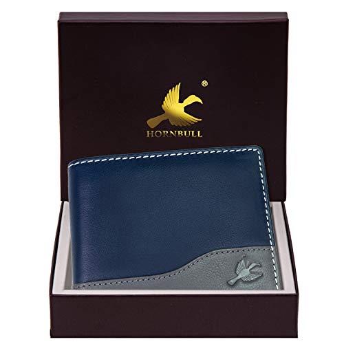 Hornbull Buttler Navy Leather Wallet