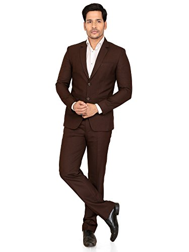 A.B.C. Garments Brown Cotton Suit For Men