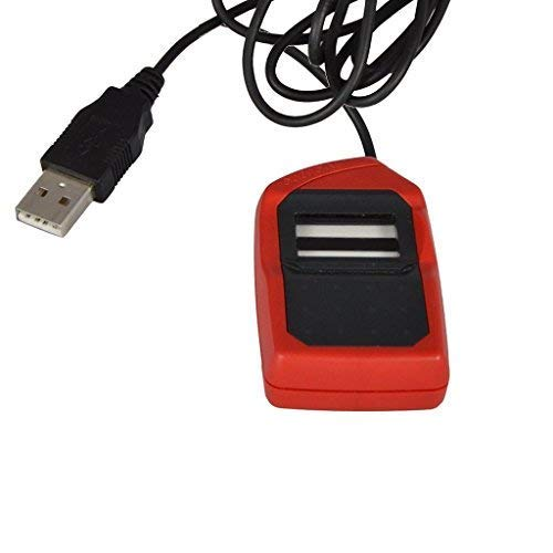 SAFRON MORPHO MSO 1300 E2 Fingerprint Scanner with USB Support (3x1.5-Inches, Red and Black)