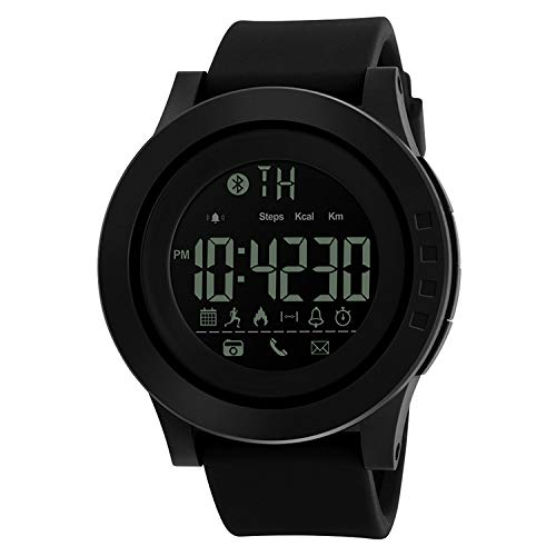 SKMEI 50 m Waterproof Digital Black Dial Smart Watch