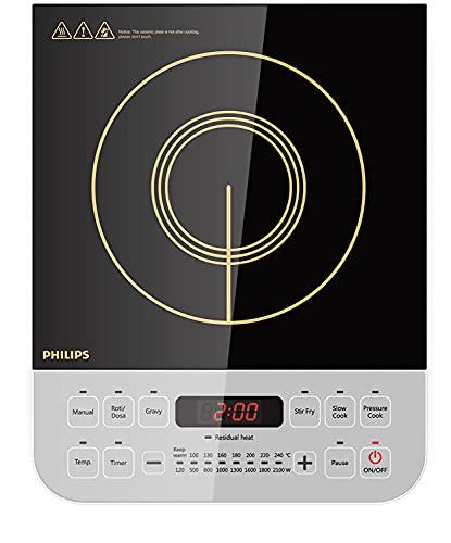 Philips Viva Collection HD4928/01 2100-Watt Induction Cooktop (Black)