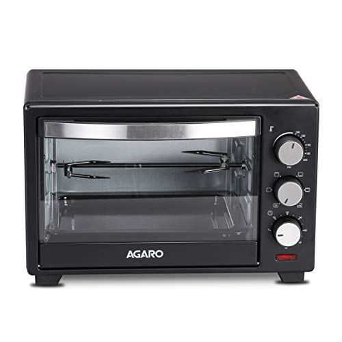 AGARO Marvel 25-Litre Oven Toaster Grill with Motorized Rotisserie & 5 Heating Modes (Black)