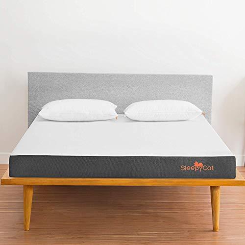 SleepyCat Original- 3 Layered Orthopedic Gel Memory Foam Mattress, King Bed Size, Medium Firm (78x72x6 Inches)