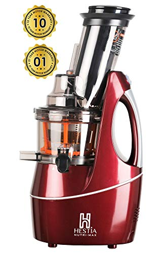 Hestia Nutri-Max Cold Press Juicer (Wine Red)