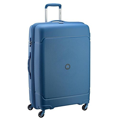 Delsey Sejour Polypropylene 75 Cm 4 Wheels Cyan Blue Large Hard Suitcase
