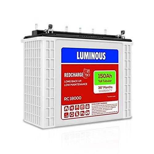 LUMINOUS RC 18000 150 AH Tall Tubular Battery
