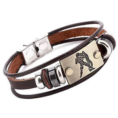 ZODIAC SIGN Leather BRACELET