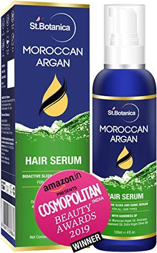 StBotanica Moroccan Argan Hair Serum - Nourishing and Frizz Control Serum (With USDA Organic Argan Oil) 120ml