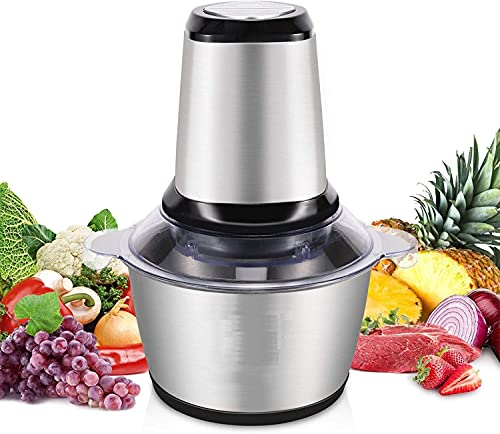 ORPIO (LABEL) ABS Stainless Steel Electric Meat Grinders with Bowl for Kitchen Food Chopper, Meat, Vegetables, Onion Slicer Dicer, Fruit and Nuts Blender - 350 Watts