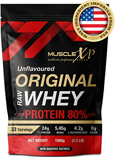 MuscleXP Raw Whey Protein Concentrate 80% Powder