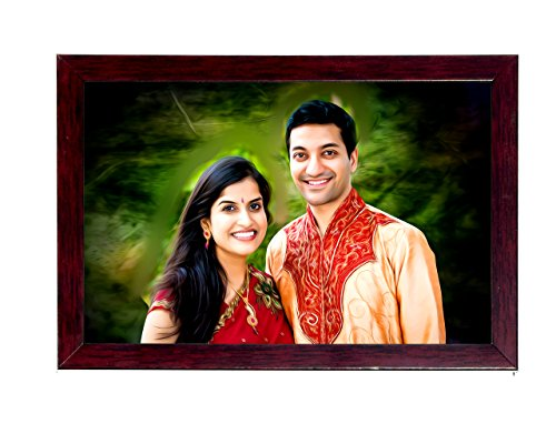 12In X 18In Personalized / Customised Oil Painted Photo Frame Digital Oil Painting Frame Photo Paint Photo Oil Painting
